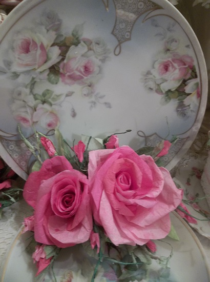 (Grace Anne) Handmade Paper Rose Clip