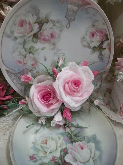 (Mildrid Mae) Handmade Paper Rose Clip