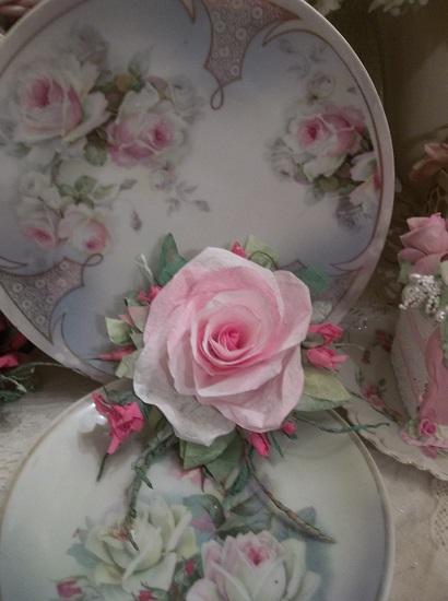 (Destiny) Handmade Paper Rose Clip