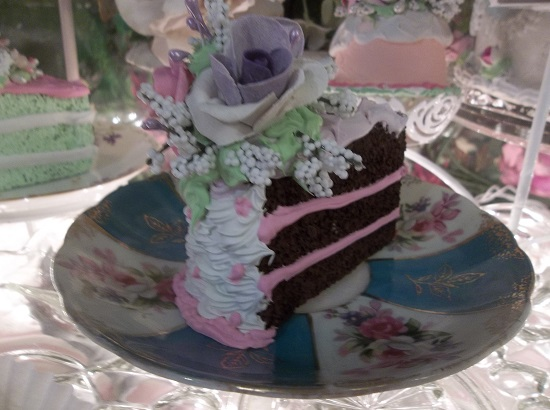 (Lavender Belle) Fake Cake Slice