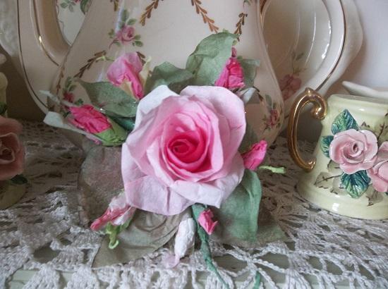 (Katinda) Handmade Paper Rose Clip