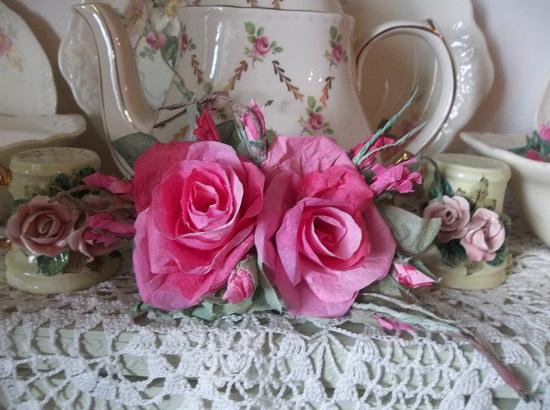 (Tawnya Rosa) Handmade Paper Rose Clip
