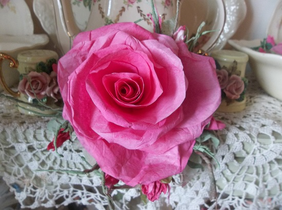 (Franciena) Handmade Paper Rose Clip