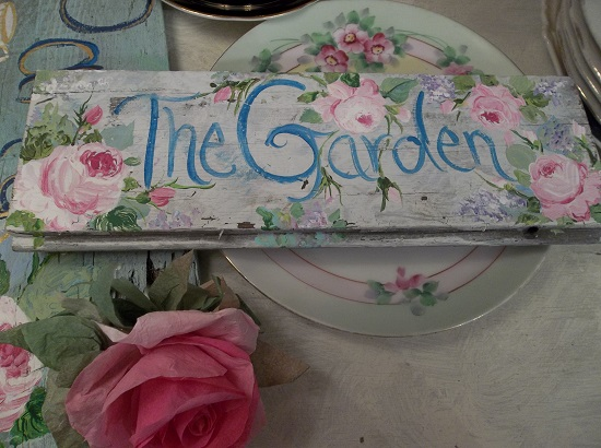 (The Garden) Handpainted Sign