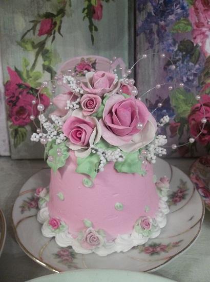(Pink Fireworks) Funky Junk Fake Cake