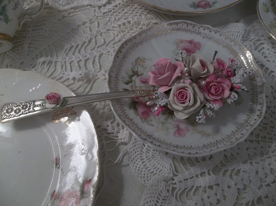 (Alexa) Decorated Vintage Serving Spoon