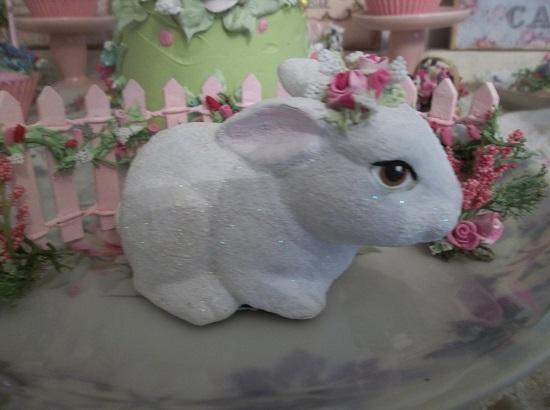 (Flopsy) Decorated Ceramic Bunny
