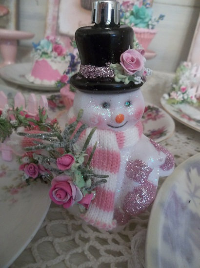 (Pink Frosty) Decorated Ornament