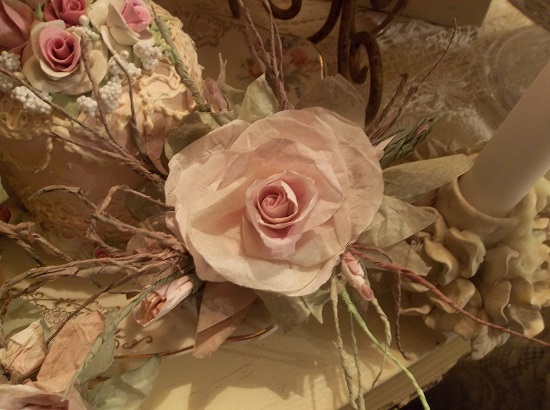 (Meadow) Handmade Paper Rose Clip