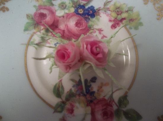(Jasmine) Mini Handmade Paper Rose Clip