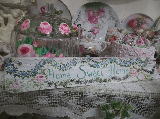 (Home Sweet Home) Handpainted Sign