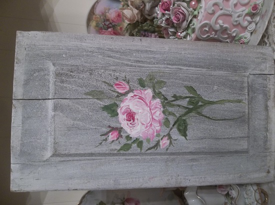 (Worn Out Rose) Handpainted Sign