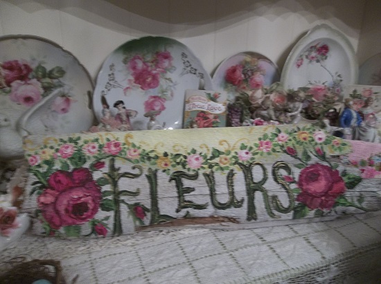 (Fleurs) Handpainted Sign