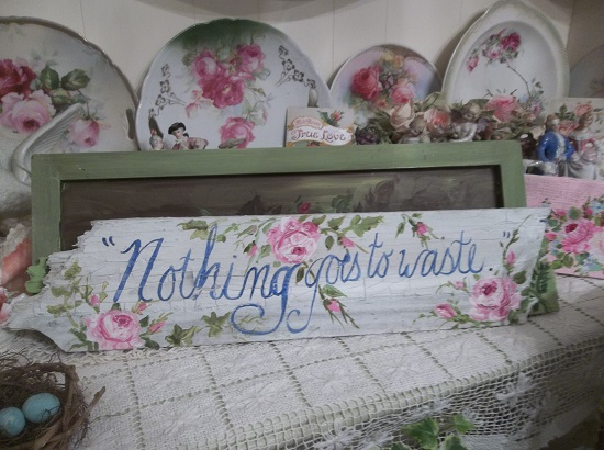 (Nothing Goes To Waste) Handpainted Sign