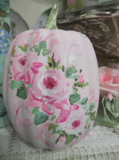 (Cinderella's Baby) Handpainted Fake Pumpkin