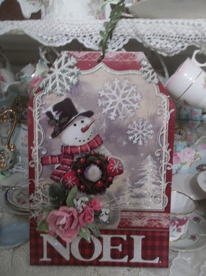 (Frosty Noel) Decorated Christmas Sign