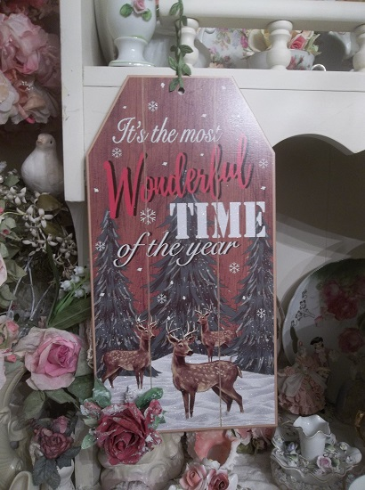 (Bambi's First Christmas) Decorated Christmas Sign