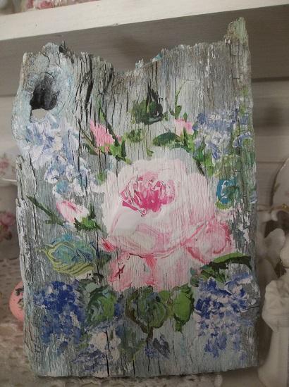 (Texas Rose) Handpainted Sign