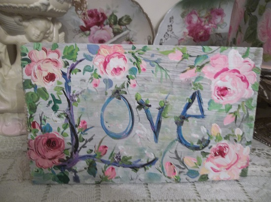 (The Sign Of Love) Handpainted Sign
