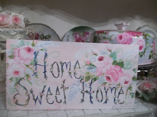 (Vintage Home Sweet Home) Handpainted Sign