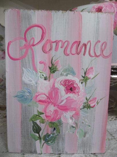 (Romance Baby, Romance) Handpainted Sign