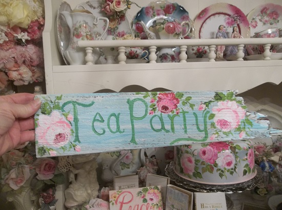 (Partea) Handpainted Sign