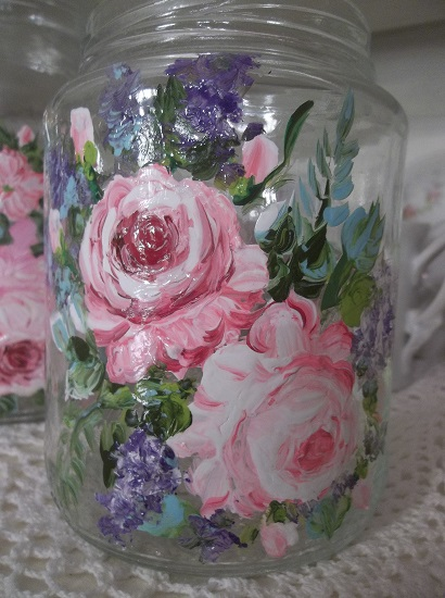 (Crystal) Handpainted Jar