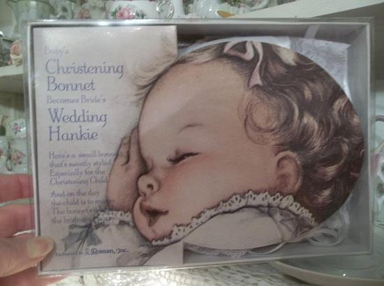 (Sweet Bride To Be) Christening Bonnet/ Brides Hankie