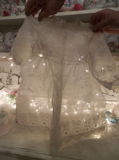 (Oh Dear Baby) Very Old Sheer Antique Baby Dress