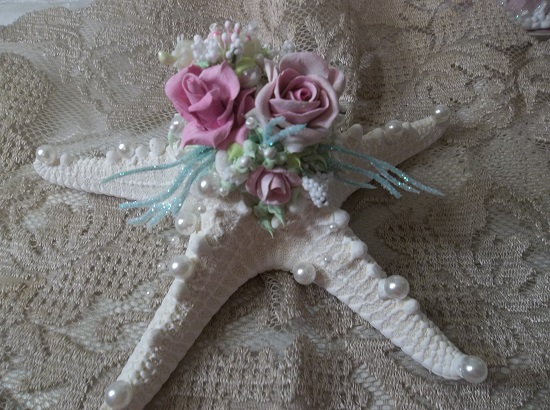 (Rose Star) Decorated Starfish
