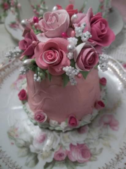 (Pink) Funky Junk Fake Cake