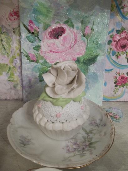 (Winter) Fake Cupcake
