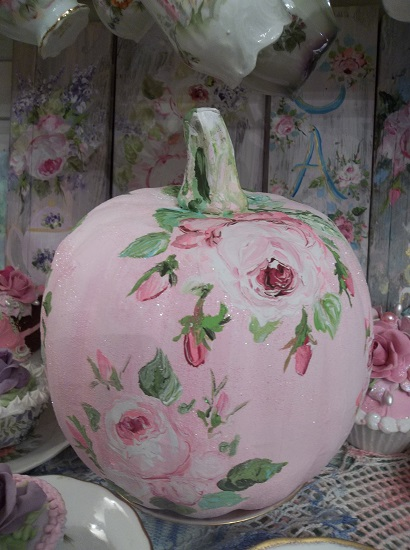 (Joyful Autumn) Handpainted Fake Pumpkin