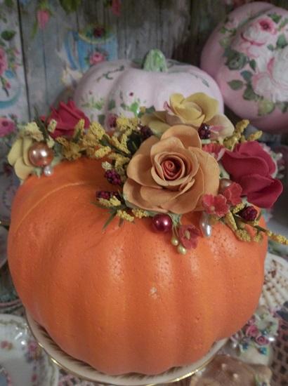 (Funkin Punkin) Decorated Foam Pumpkin