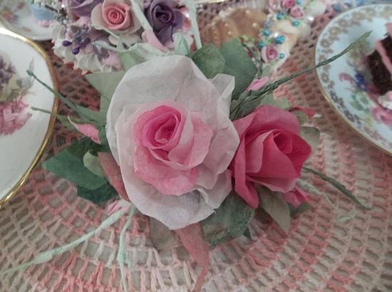 (Cassie) Handmade Paper Rose Clip