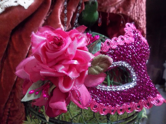 (Gypsy Rose) Decorated Carnival Mask