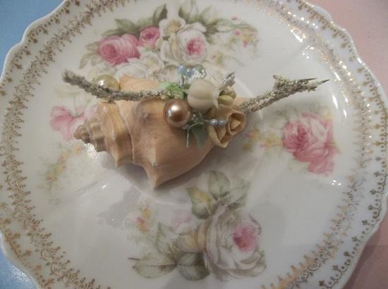 (Pearl Sea) Mini Marvel Decorated Seashell
