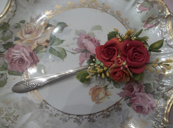 (A Spoon Of Deep Autumn) Decorated Soup Spoon