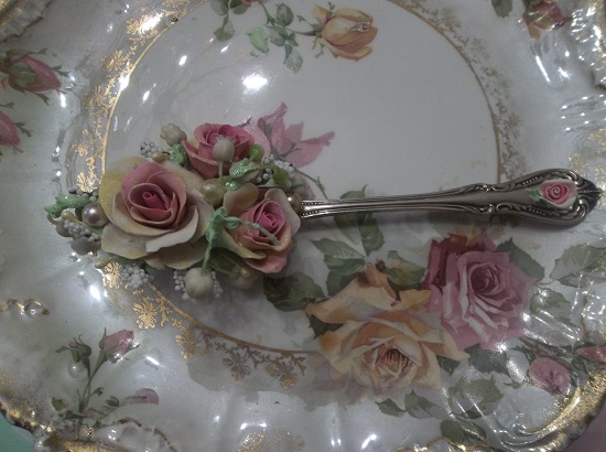 (Lilli Rosa) Decorated Tablespoon