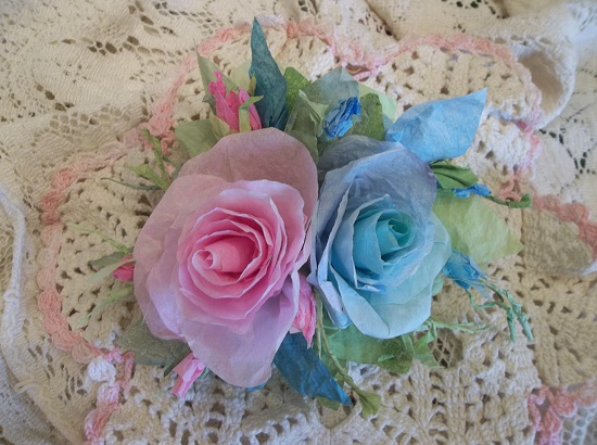 (Oh Baby) Handmade Paper Rose Clip