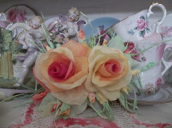 (Sunflower) Handmade Paper Rose Clip