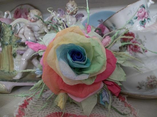 (Promise Keeper) Handmade Paper Rose Clip