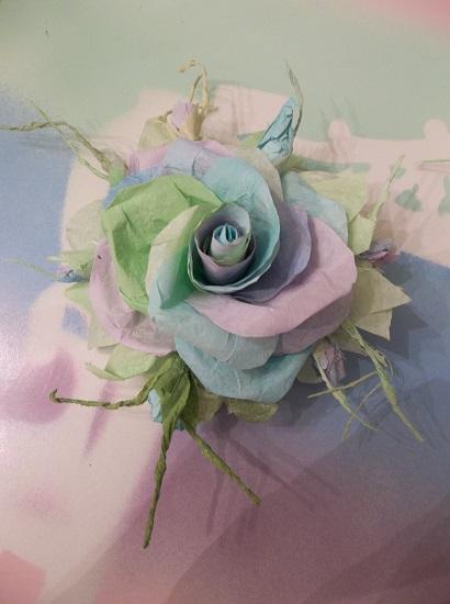 (Don't Wake Me I'm Dreaming) Handmade Paper Rose Clip