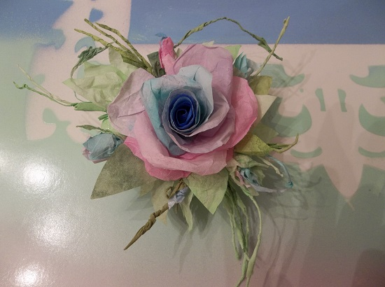 (Joyful Jen) Handmade Paper Rose Clip