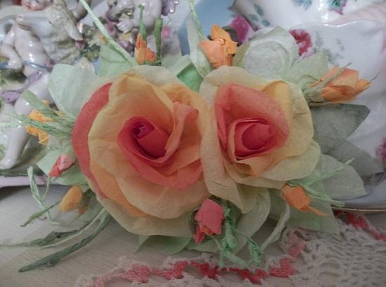 (Bethanie) Handmade Paper Rose Clip