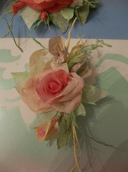(Corabella) Handmade Paper Rose On A Mini Clip