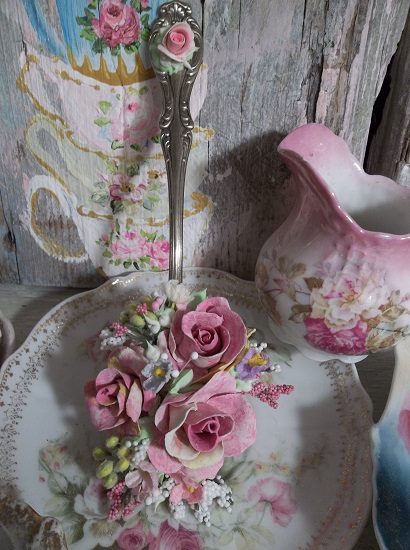 (Autumn Spring) Vintage Decorated Tablespoon