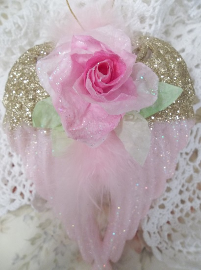 (Wings To Fly) Decorated Angel Wings Ornament