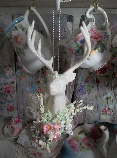 (Dear Me) Decorated Deer Christmas Ornament