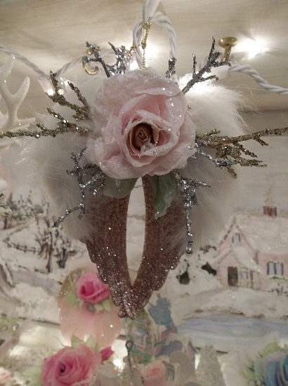 (Silver/ Gold/ Copper Wings) Decorated Angel Wings Ornament